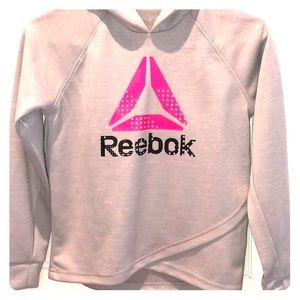 Reebok Hoodie with Pink and Black Logo Size 12